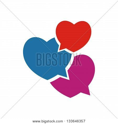 Logo Icon Infinity three Love Couple symbol chatt