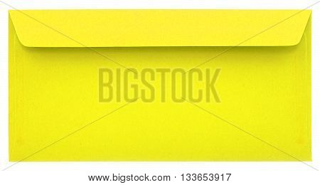 Yellow paper envelope isolated on white background