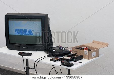 Gaming Console With Television At Animefest