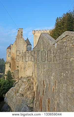 Walls and keep of Pons castle, France