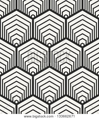 Vector Seamless Pattern. Modern Stylish Abstract Geometric Background With Structure Of Repeating He