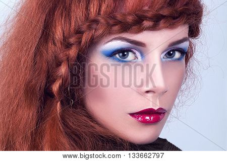 portrait of a very pretty girl with professional makeup