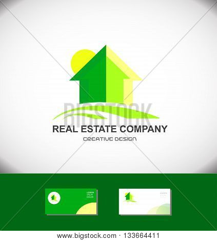 Vector company logo icon element template real estate home house property residential construction