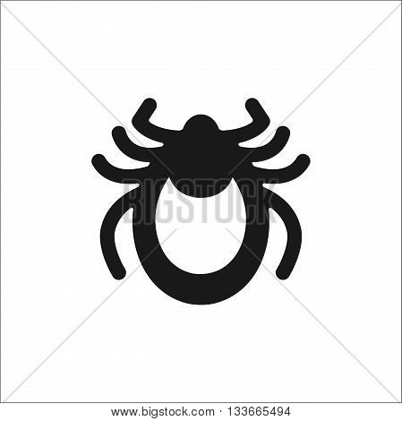 Encephalitis tick icon vector. Mite sign isolated on white background. Flat design. Vector illustration