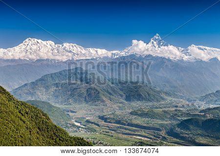 Machhapuchhre And Annapurna Mountains