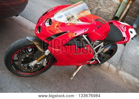 Red Ducati 749, Close Up Photo