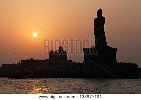 Vivekananda And Thiruvalluvar Statues