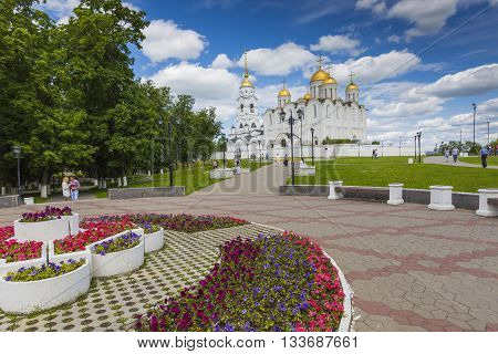 Vladimir - June 05, 2016 :assumption Cathedral At Vladimir In Summer, Unesco World Heritage Site, Vl