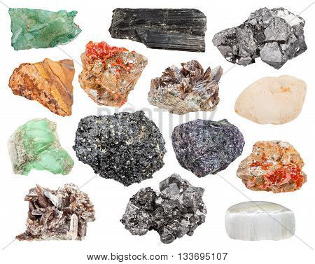 Set Of Various Minerals - Magnetite, Axinite, Etc