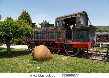 Historical Train Locomotive