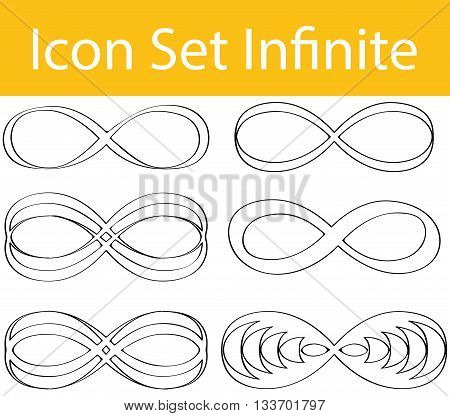 Drawn Doodle Lined Icon Set Infinite
