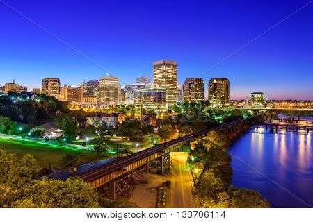 Richmond, Virginia, USA downtown skyline.