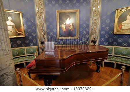 Interior Of The La Scala Museum, Milan, Italy