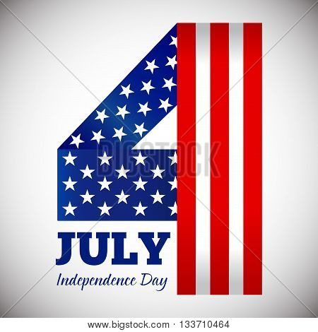 Vector stock of happy fourth of july independence day symbol