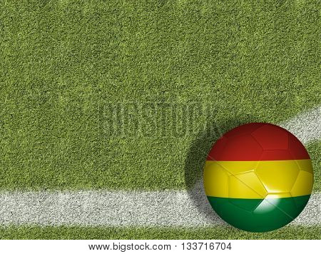 Bolivian Ball in a Soccer Field