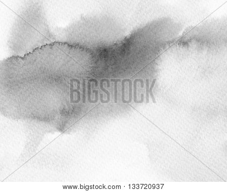 abstract black and white watercolor monotone background