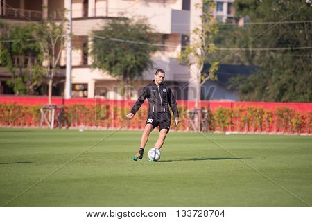 Huahin Thailand-jan26,2016 : Sergio Paulo Nascimento Filho Player Of Port Fc  In Action During Train