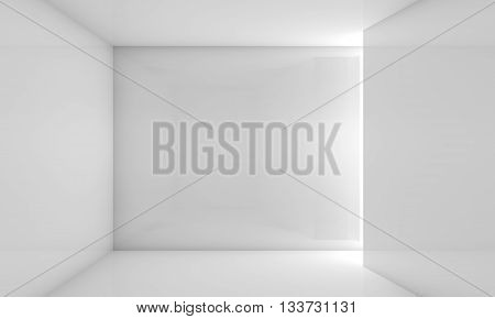 Abstract White Contemporary Interior 3 D