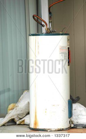 Defective Hot Water Heater.