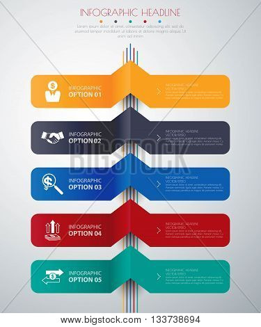 timeline infographics with icons set. vector illustration