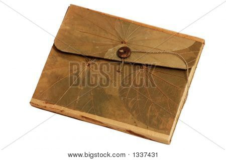 Nice Book With Organic Cover Isolated On White