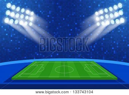Football stadium 2016. European Soccer. Europe tournament group. Building Stadium. Football arena. Soccer Vector Stadium Background