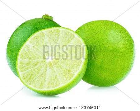 sliced green lemons lemon is a sour juicy fruit stacking focus added