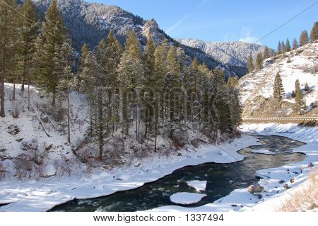 Snowy Riverbed