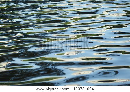 Rippling water surface. Flowing water surface. Water waves background wallpaper.