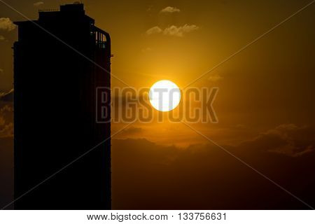 Sunrise With Building