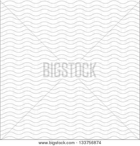 blue seamless wavy line pattern vector illustration