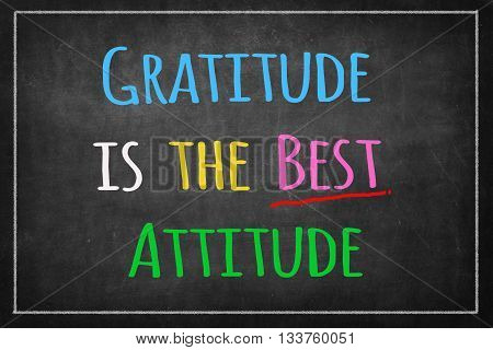 Gratitude is the best attitude on Blackboard poster