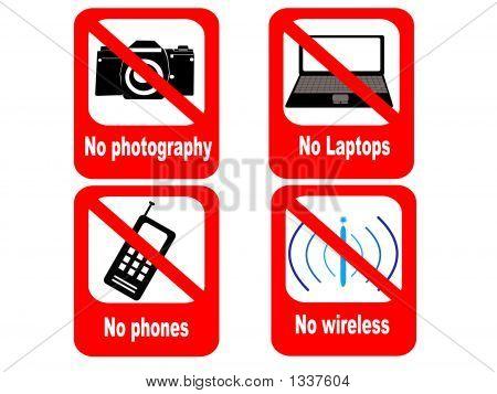Technologie interdite signe