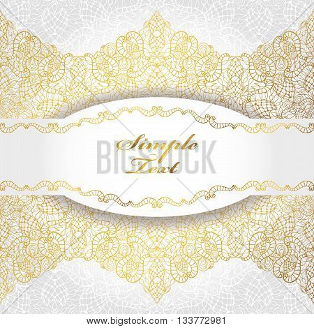 Ethnic pattern, background.Vintage Tribal decorative gold ornament. Hand drawn background with label East, Islam, Arabic, Indian, ottoman motifs.Abstract  ethnic texture.Orient, symmetry lace, holiday backdrop