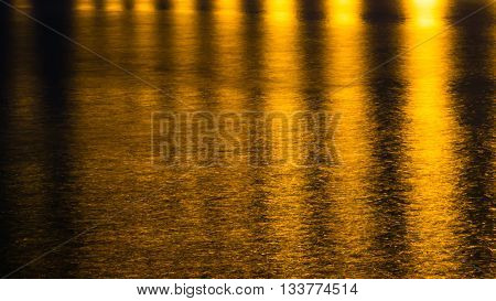 Yellow abstract background. Gold light abstract background. Yellow light reflect on water background.