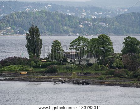 oslo and the fiord of oslo in norway