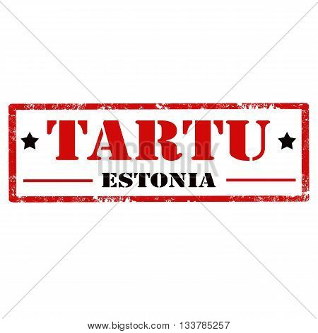 Grunge rubber stamp with text Tartu (city in Estonia),vector illustration
