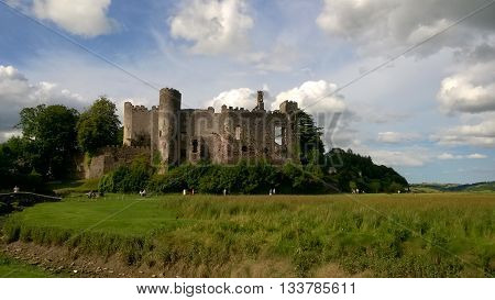 Laugharne Castle, Laugharne, Carmarthenshire, South Wales, UK