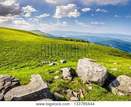 Boulders On The Carpathian Hillside