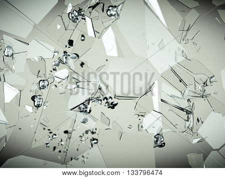 Glass Breaking And Shatter