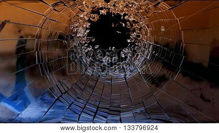Bullet Hole: Pieces Of Shattered Glass