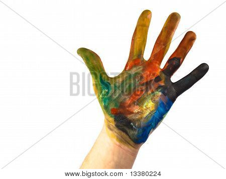 Coloured Hand