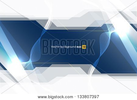 Blue white vector wave design vector illustration