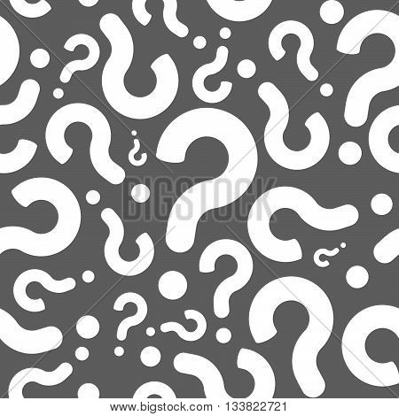 Seamless Question Mark Mistery Symbols Pattern Background