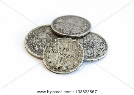 Silver Coins. Old Expired Money