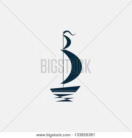 sailing logo/ vector ship/ boat icon/ shipping