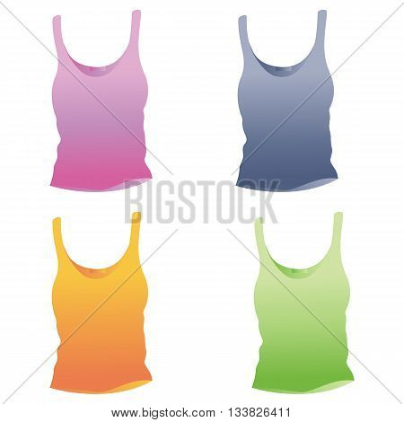 singlet template/ vector woman top/ singlet vector