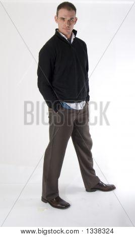 Serious Man In Black