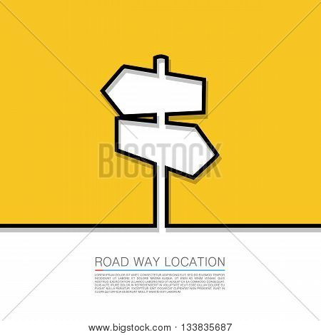 The concept of a decision making standing on road junction. Movement in an unknown