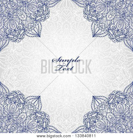 Mandala pattern and background.Vintage decorative ornament and background.East, Islam, Arabic, Indian and motifs.Ethnic texture.Orient, symmetry lace, fabric and wallpaper.Wedding and holiday card.